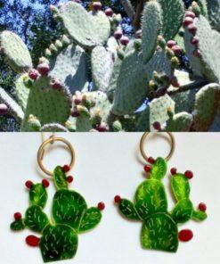 f1 cactus earrings