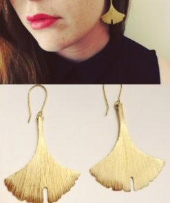 d6 gingko earrings